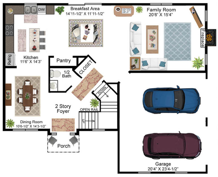 Bittner Model Floor Plan - First Floor