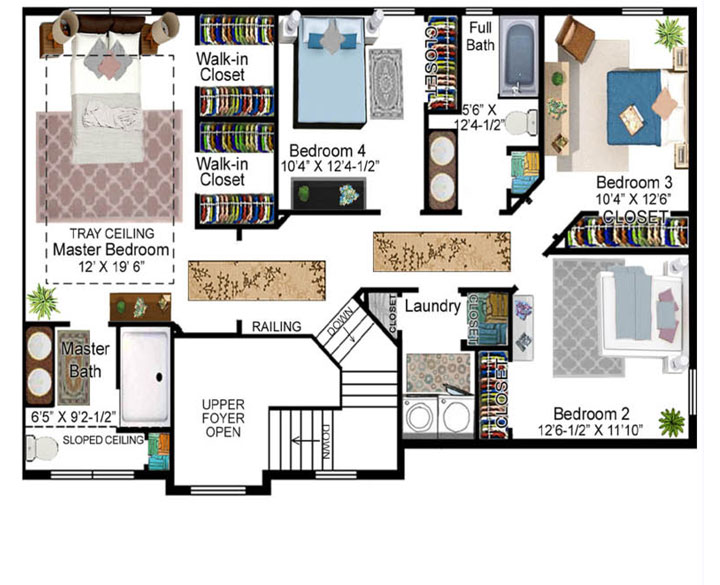 Bittner Model Floor Plan - Second Floor