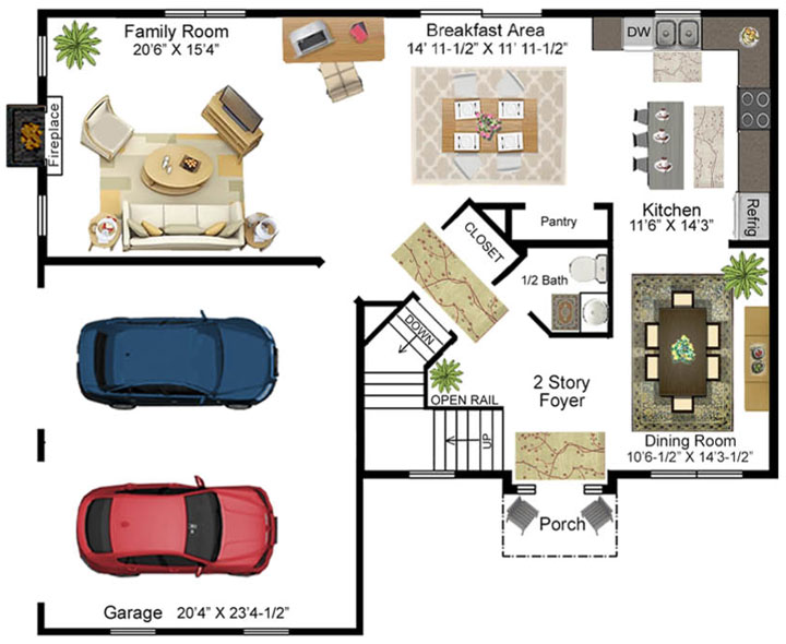 Diehl Model Floor Plan - First Floor
