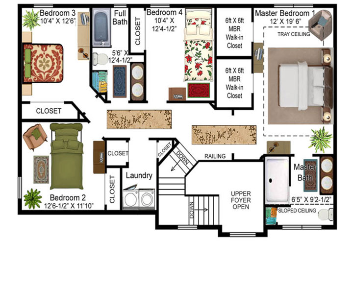 Diehl Model Floor Plan - Second Floor