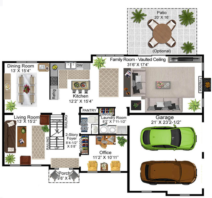 Fritzinger Model Floor Plan - First Floor
