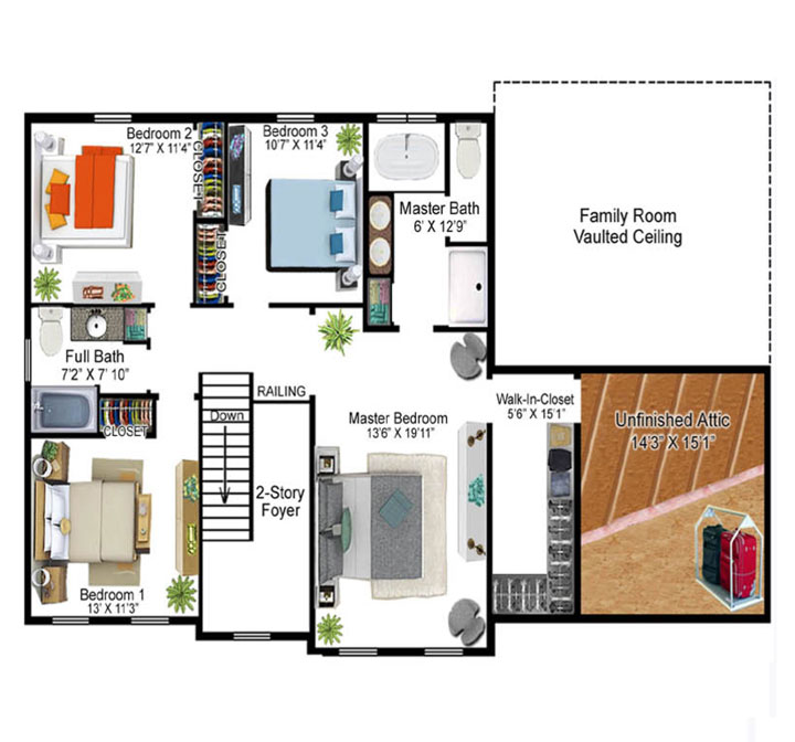 Fritzinger Model Floor Plan - Second Floor