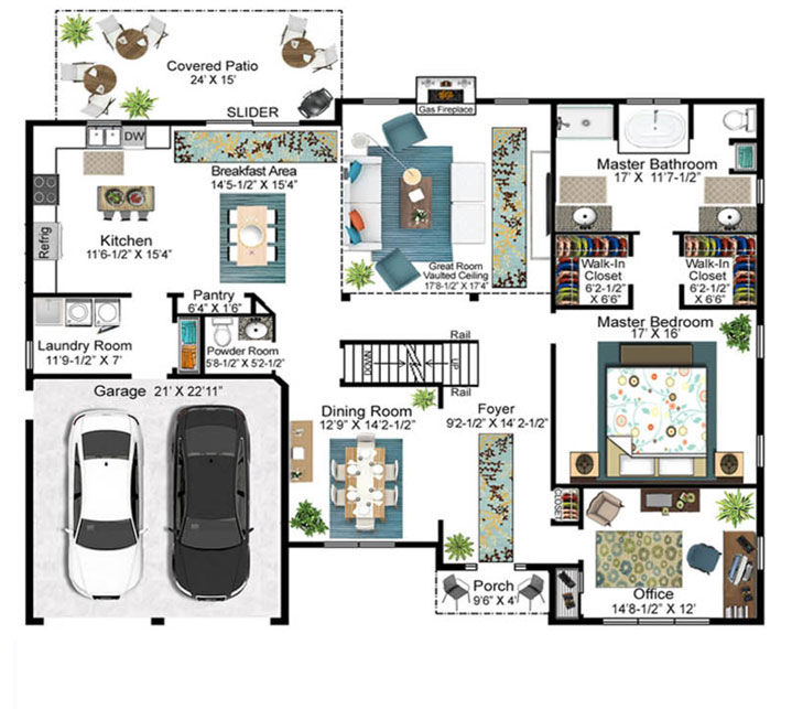 Pidale Model Floor Plan - First Floor